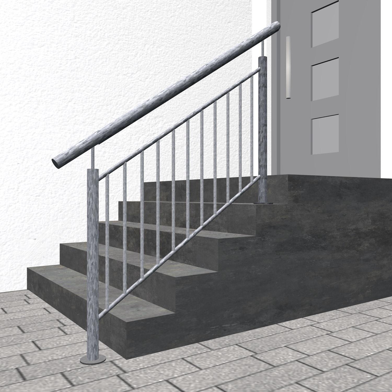 Treppengeländer verzinkt  FSG Stabfüllung