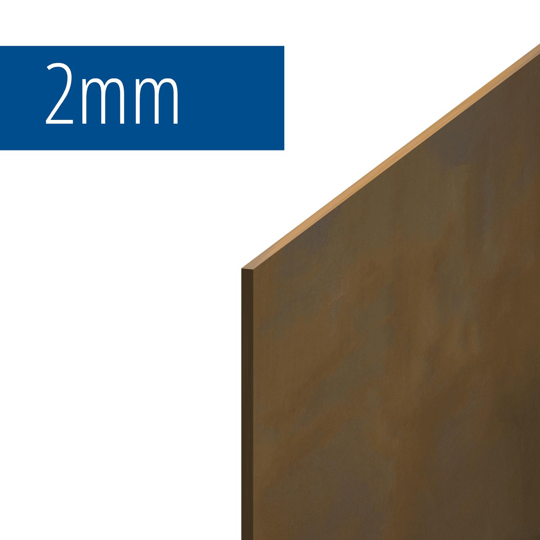 Blechzuschnitt Cortenstahl Stärke 2 mm