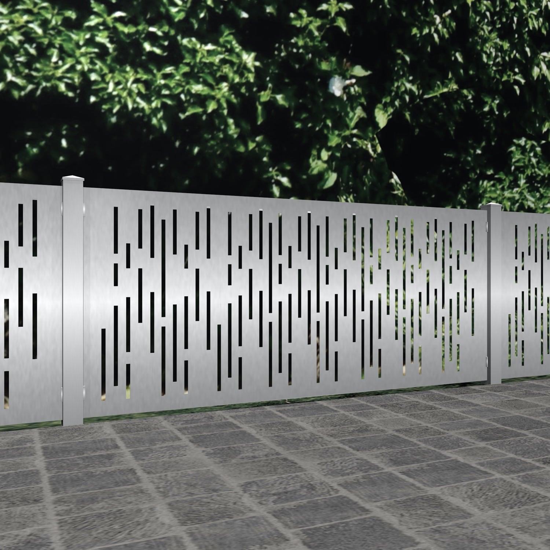 Gartenzaun Edelstahl Laserschnitt Design SF VE