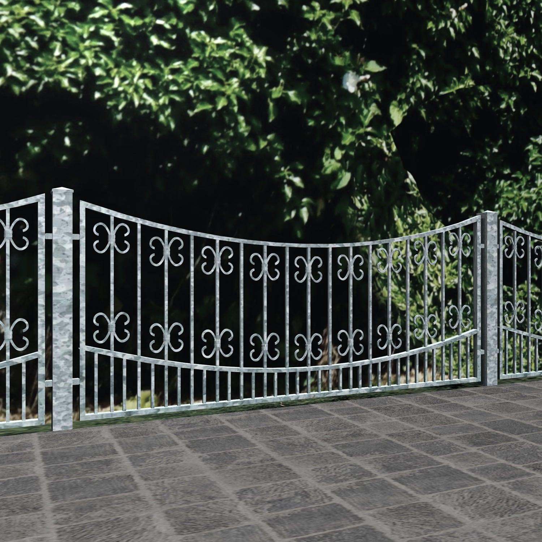 Gartenzaun verzinkt Barock, UB