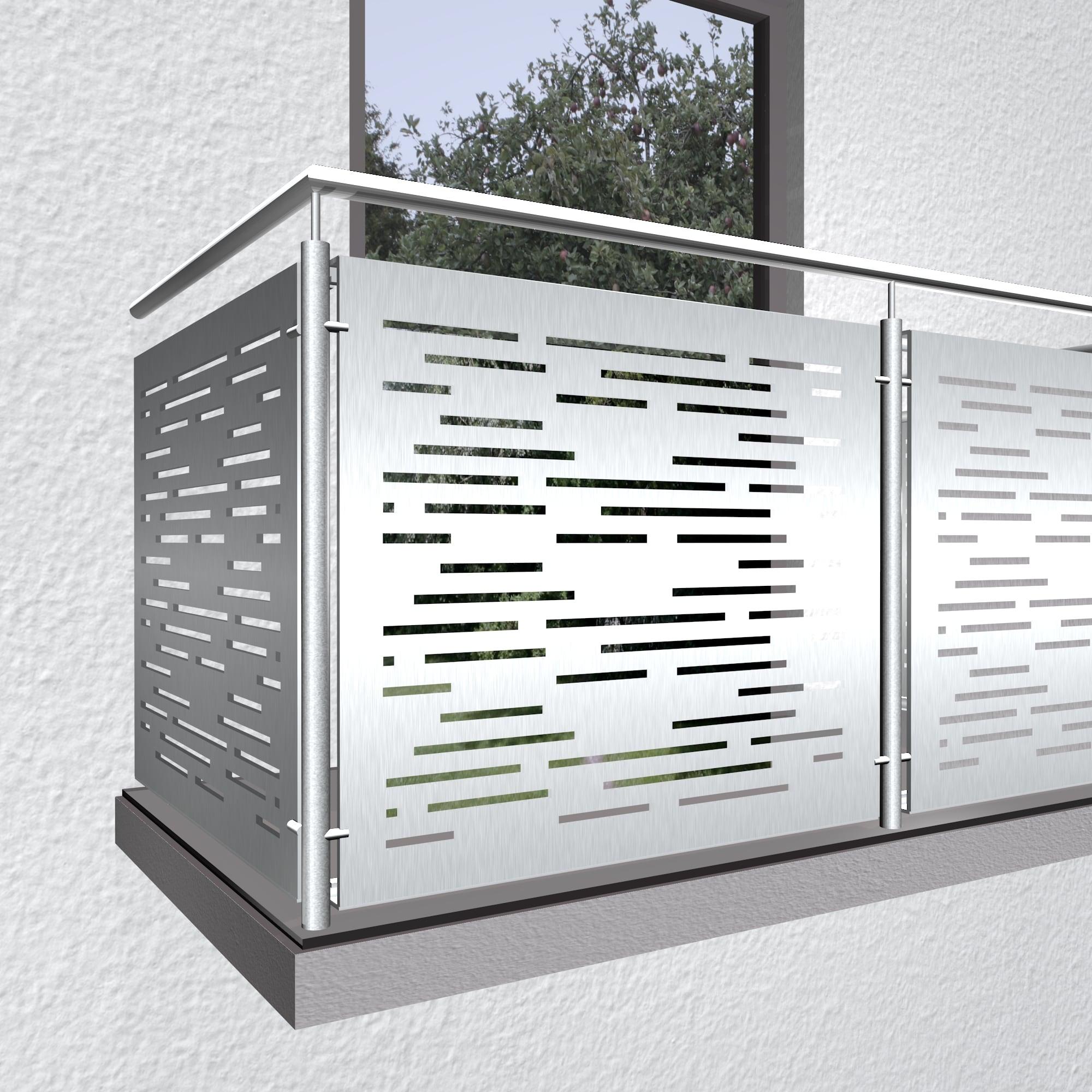 Balkonverkleidung Aluminium SF HO
