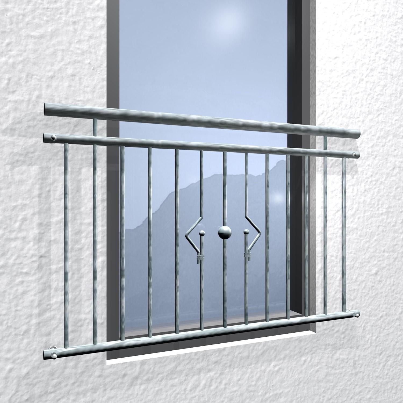 Französischer Balkon verzinkt Sonnensystem Ornament
