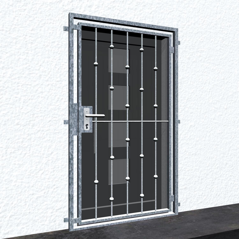 Gittertür verzinkt Kugeln versetzt