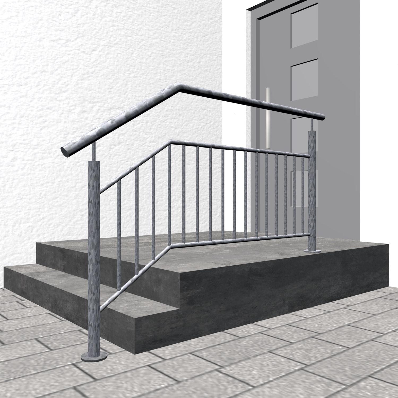 Treppengeländer verzinkt  FS-CL Stabfüllung