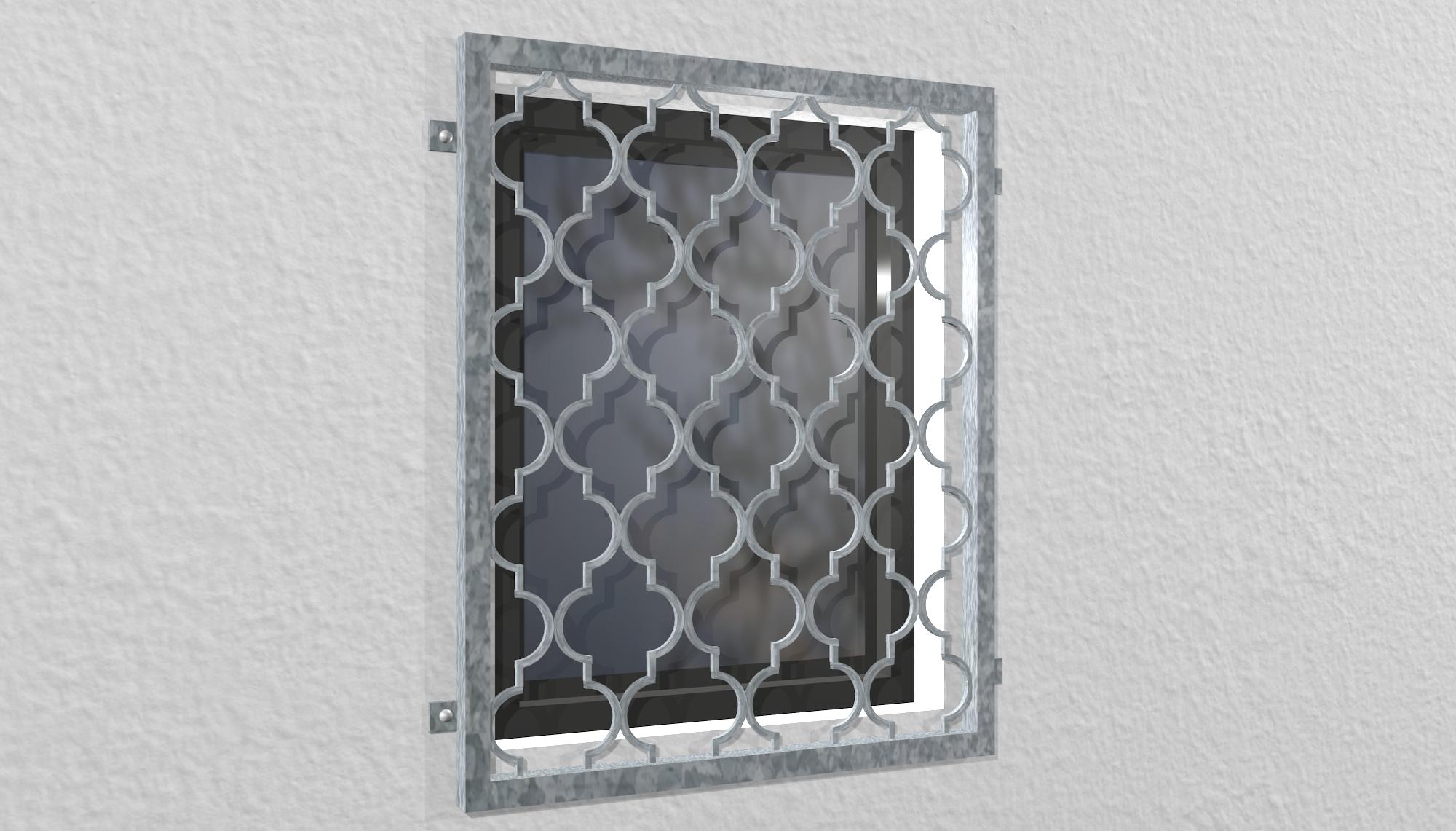 Fenstergitter verzinkt Rauten Classic