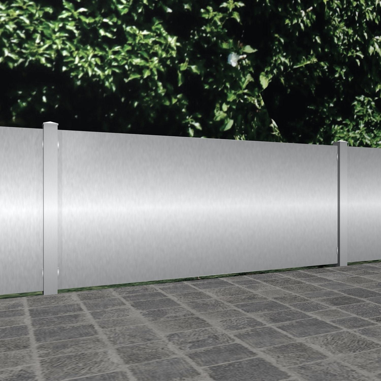 Gartenzaun Edelstahl Sichtschutz blickdicht