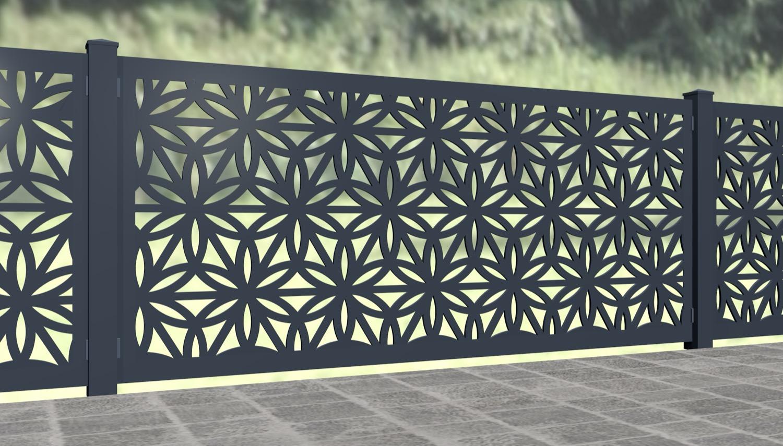 Gartenzaun Alu Laserschnitt Design BT