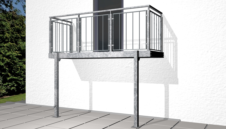 Balkon verzinkt und wahlweise farbbeschichtet Stabfüllung