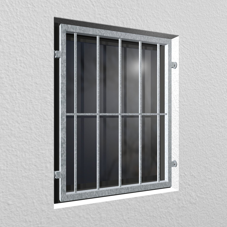 Mobiles Fenstergitter verzinkt Vertikalstab