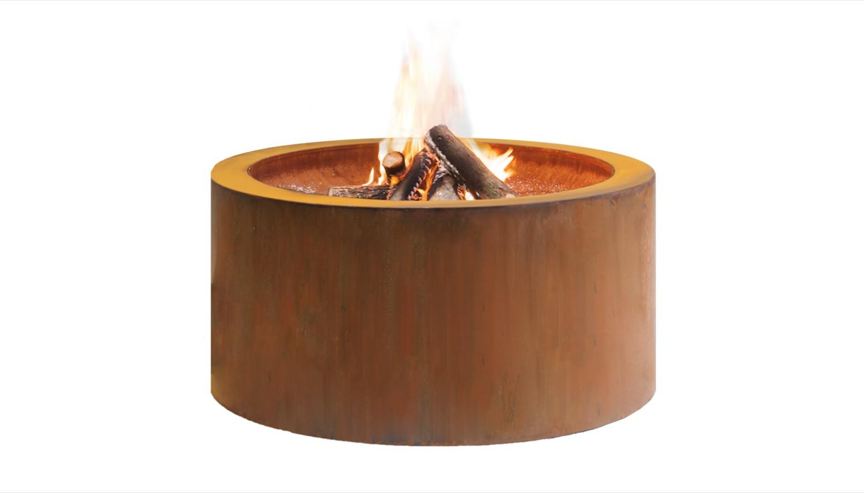 Feuerschale Cortenstahl rund