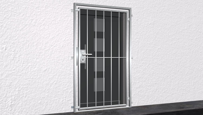 Gittertür Edelstahl Vertikalstab