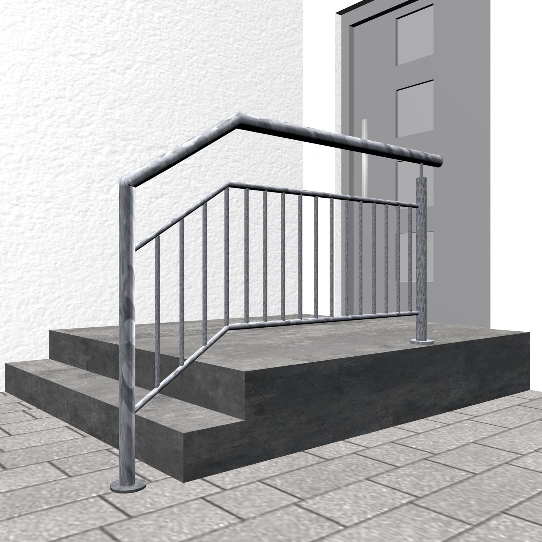 Treppengeländer verzinkt  FAS-CL Stabfüllung