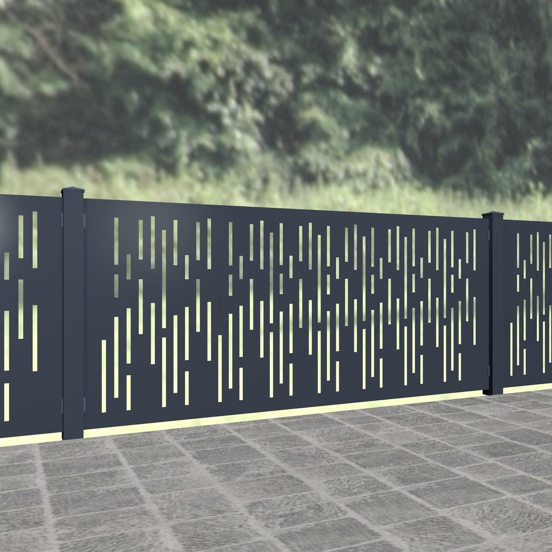 Gartenzaun Alu Laserschnitt Design SF VE