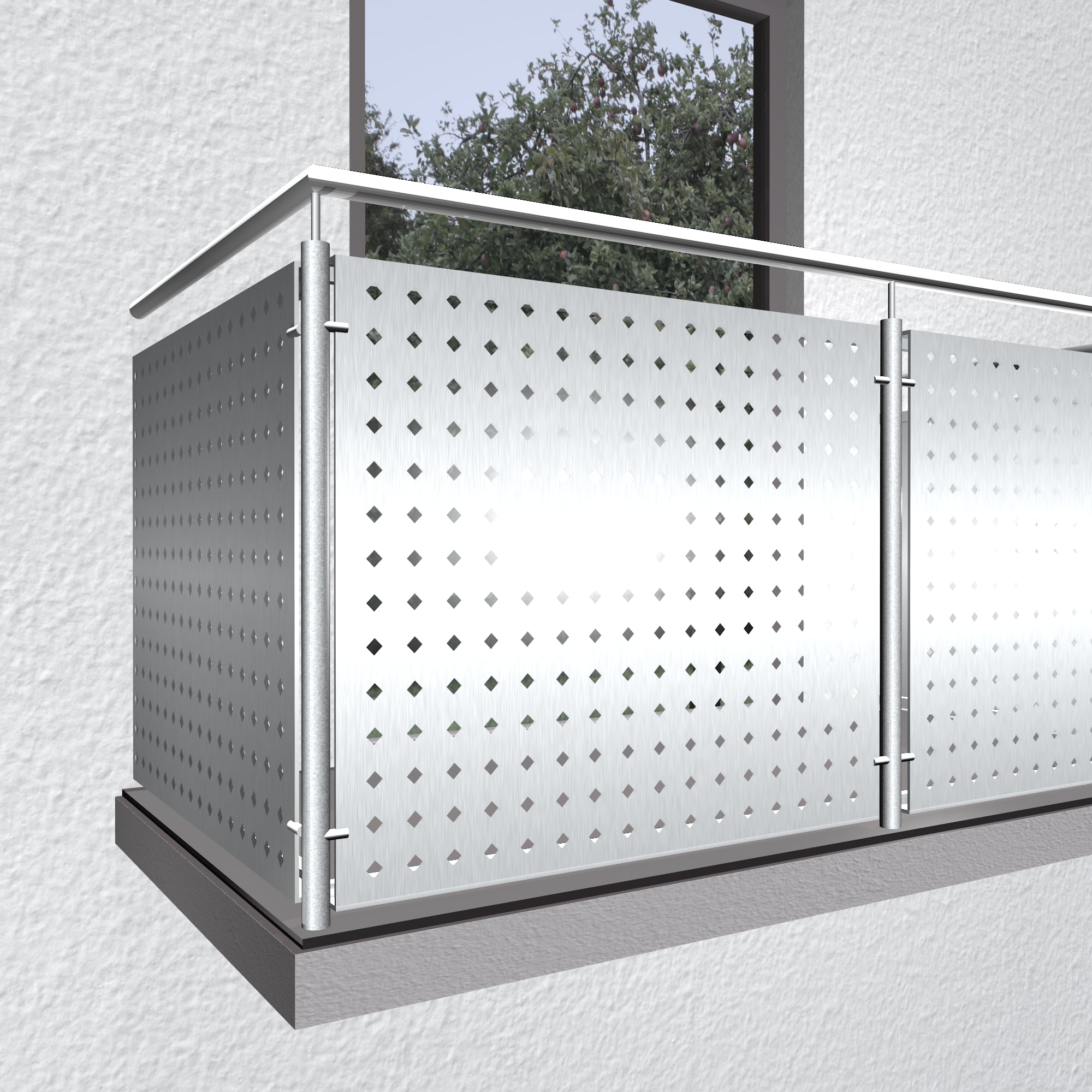 Balkonverkleidung Aluminium QL DI GE