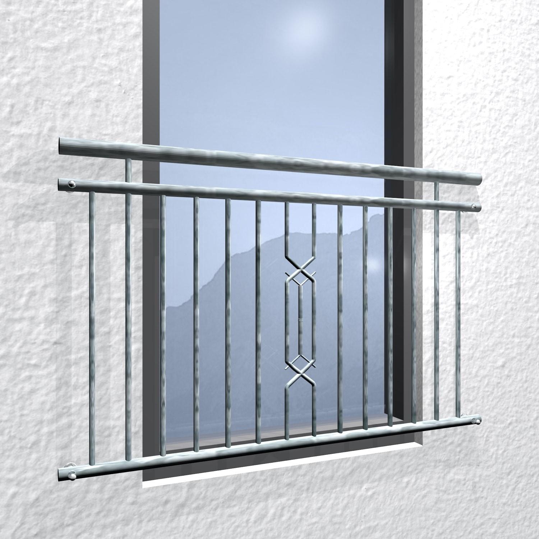 Französischer Balkon verzinkt 6-Eck II Ornament