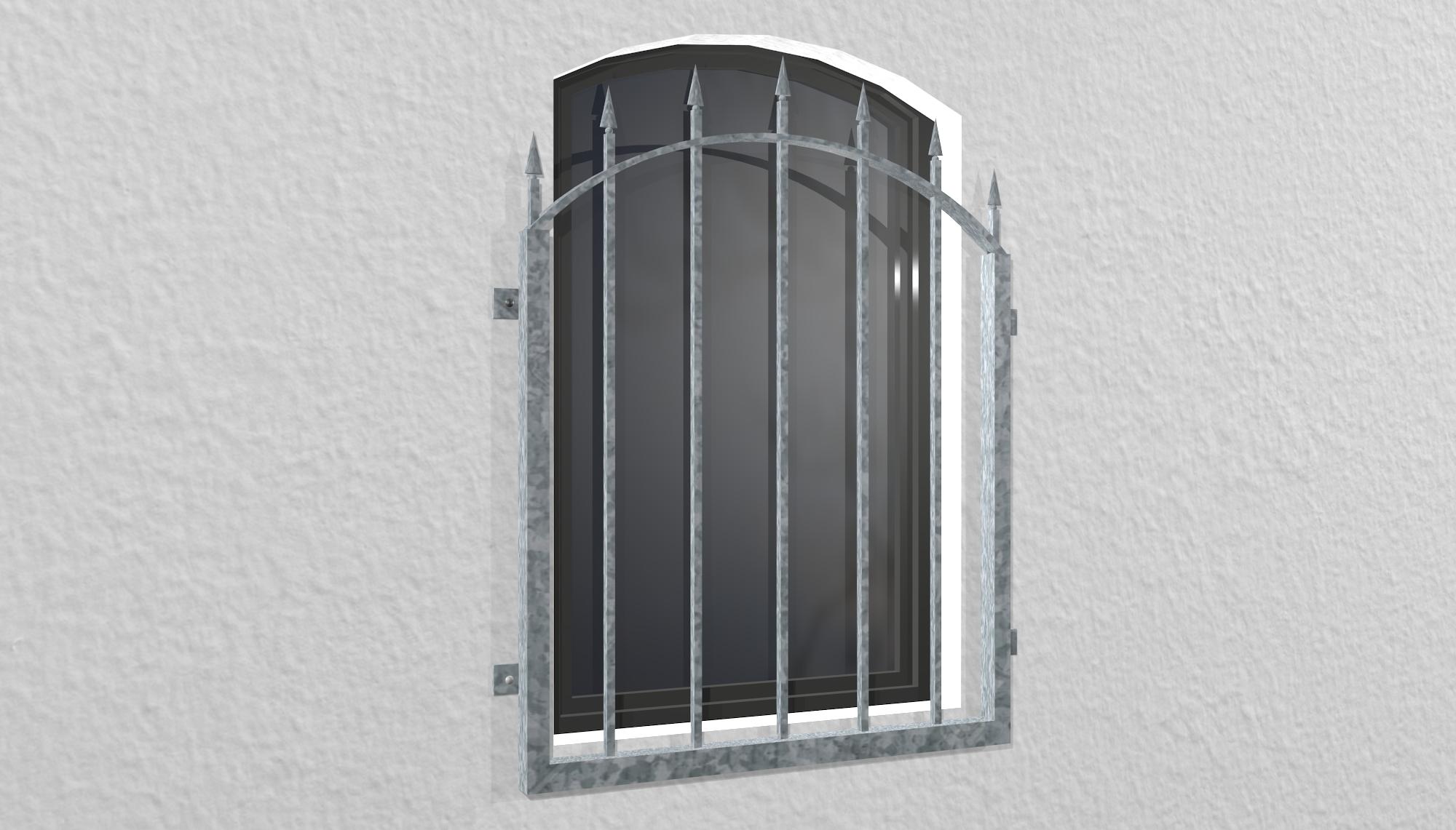 Fenstergitter verzinkt Derby Oberbogen