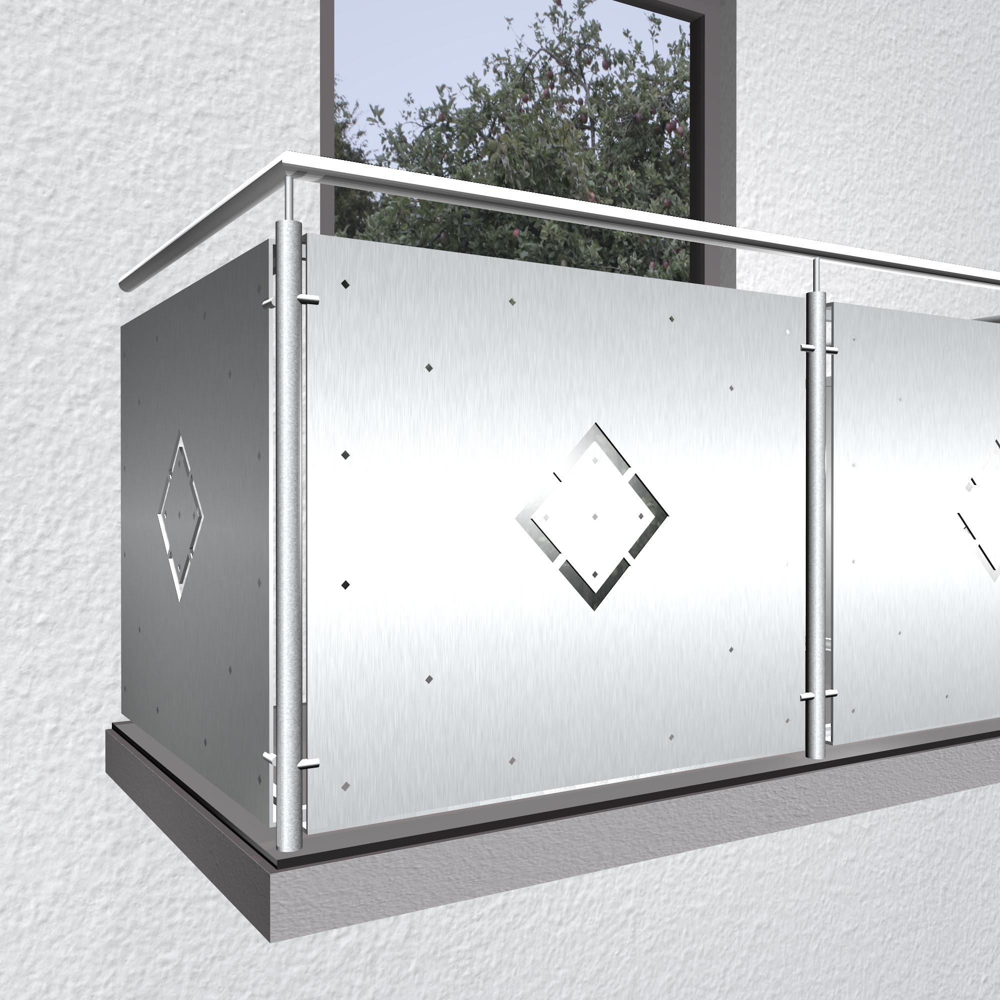 Balkonverkleidung Aluminium WÜ
