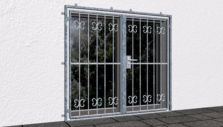 Gittertür verzinkt 2-flügelig Barock