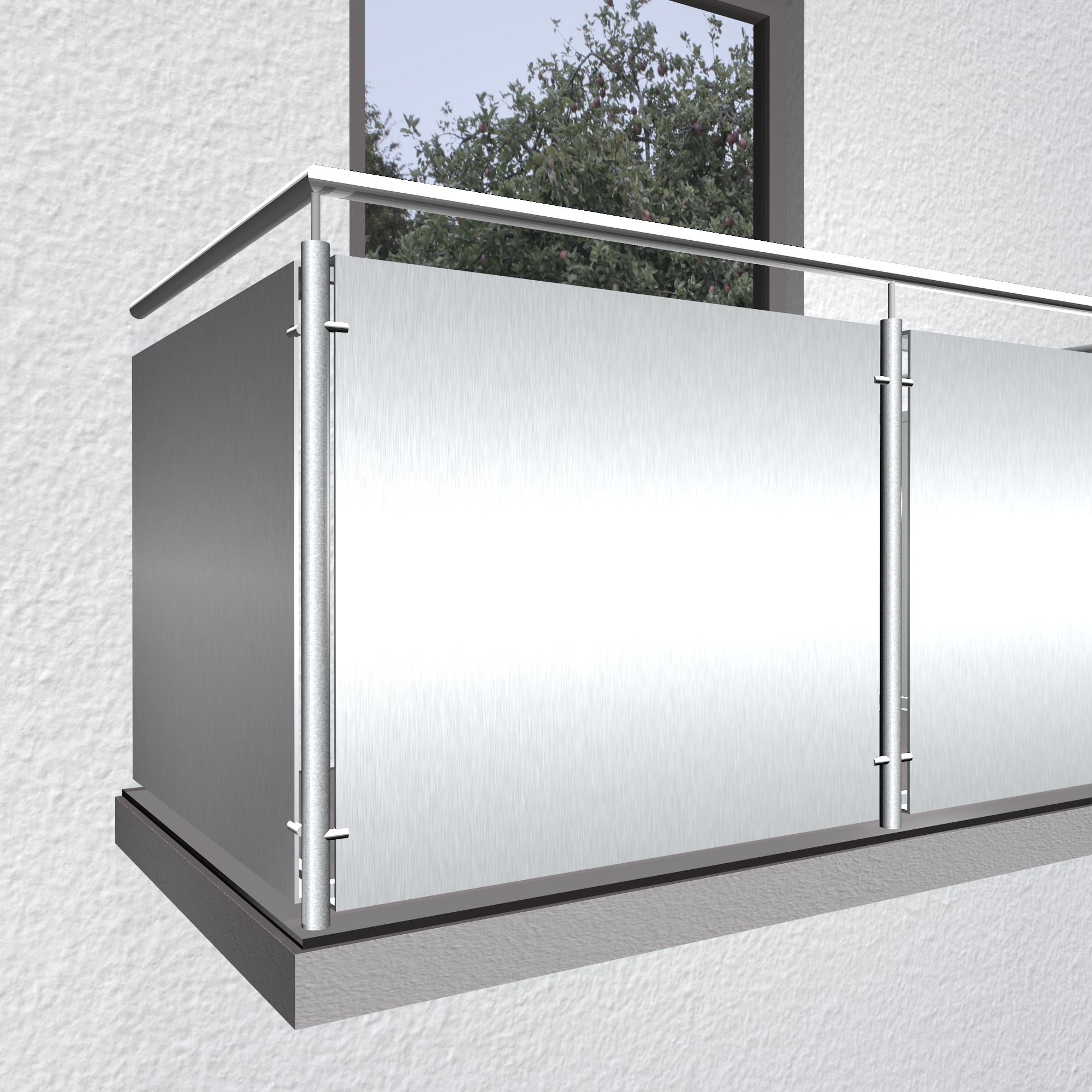 Balkonverkleidung Aluminium Vollblech