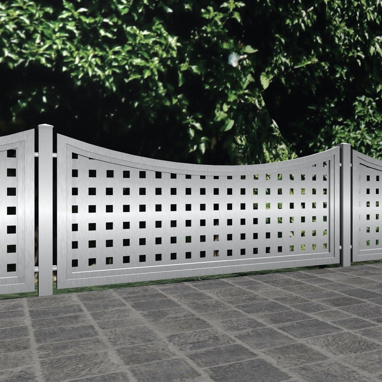 Gartenzaun Edelstahl Sichtschutz QL, UB