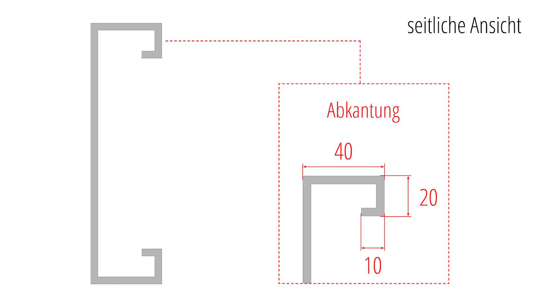Balkonverkleidung Cortenstahl RL VE