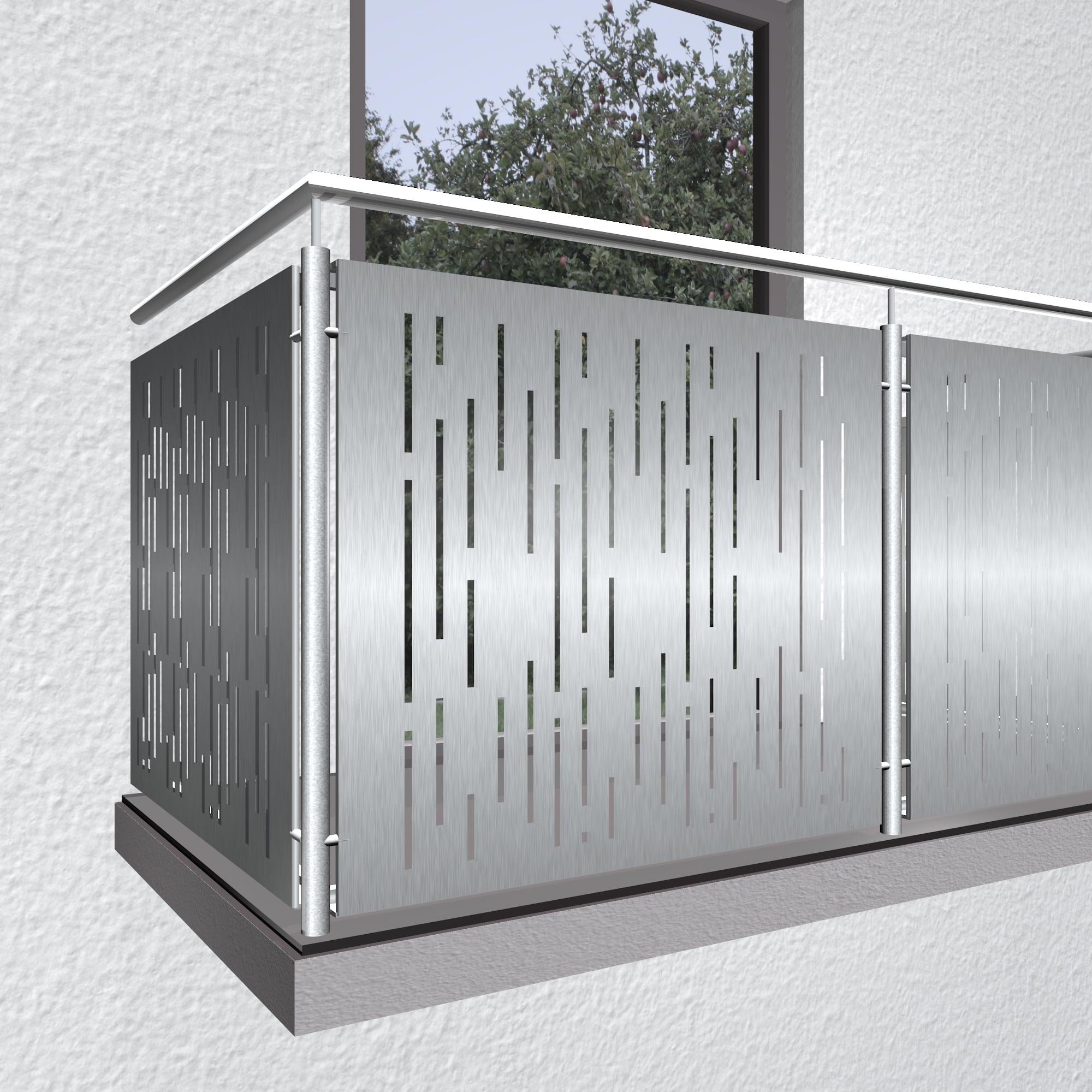 Balkonverkleidung Edelstahl SF VE