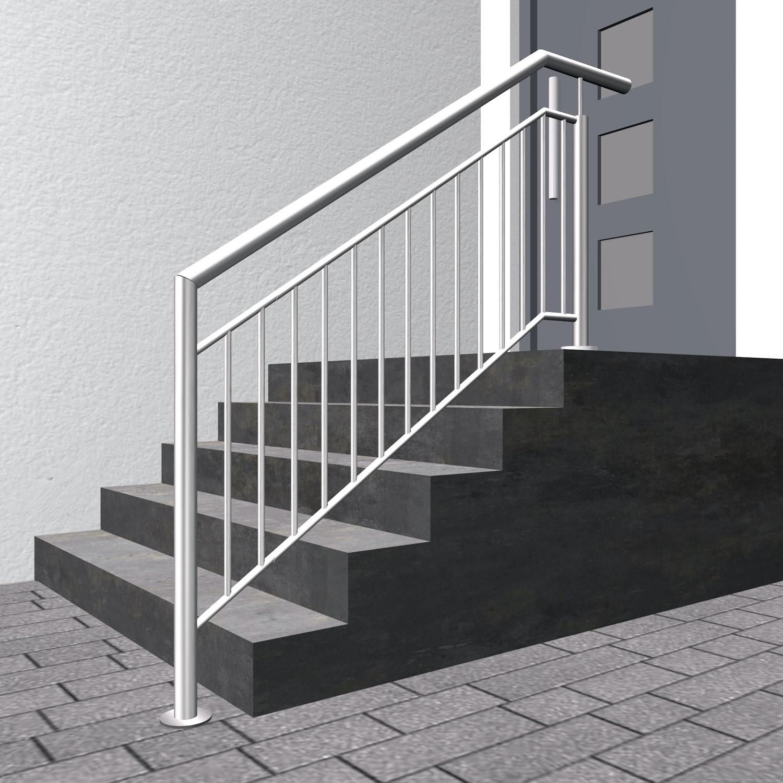Treppengeländer Edelstahl FAS Stabfüllung