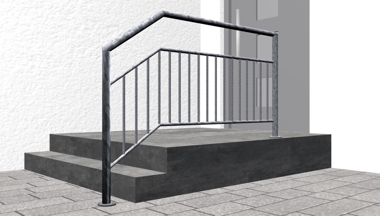 Treppengeländer verzinkt  FA-CL Stabfüllung