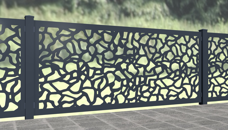 Gartenzaun Alu Laserschnitt Design AB 2