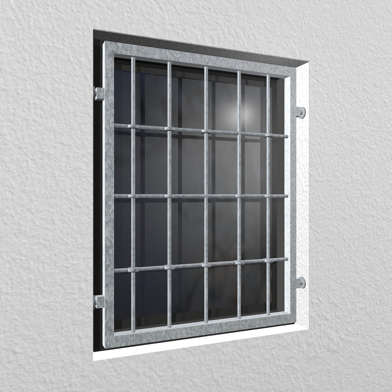 Mobiles Fenstergitter verzinkt Rundstab