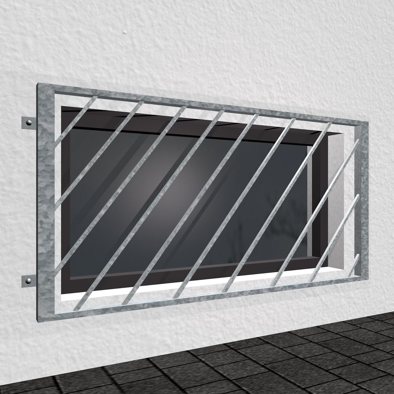Kellerfenstergitter verzinkt Diagonalstab
