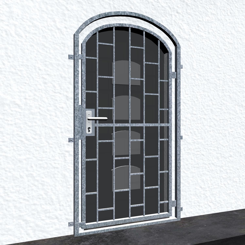 Gittertür verzinkt Leiter Oberbogen