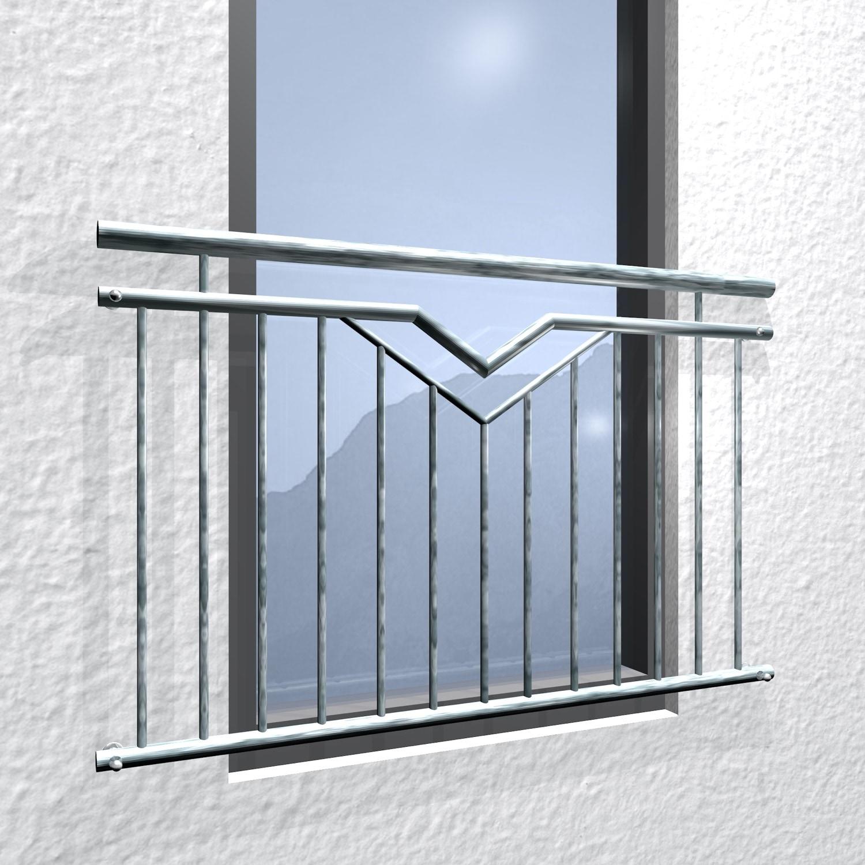 Französischer Balkon verzinkt Doppel-V
