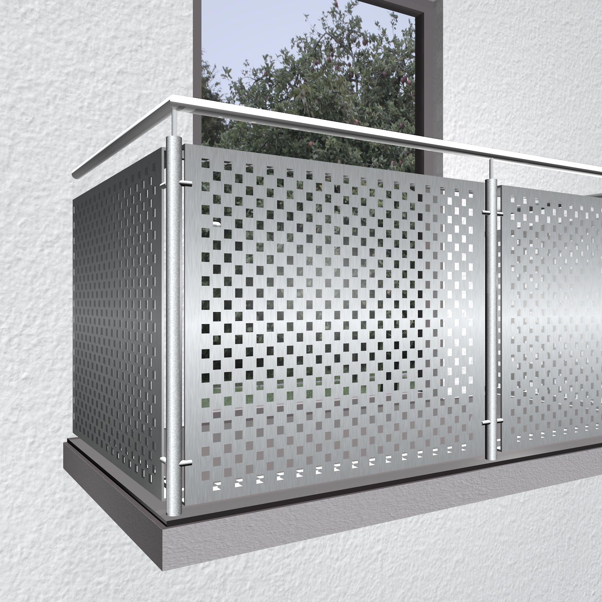 Balkonverkleidung Edelstahl QL VE