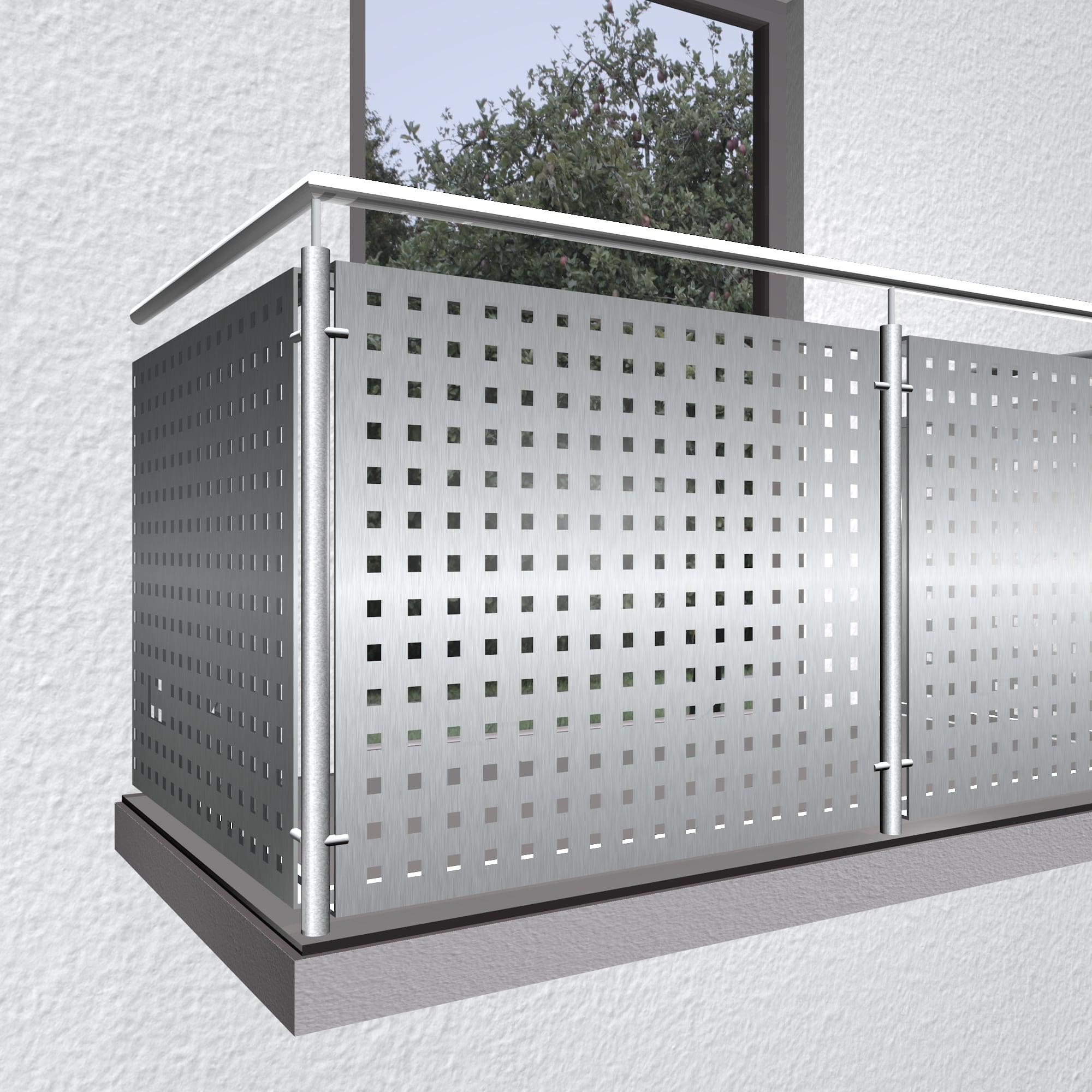 Balkonverkleidung Edelstahl QL GE