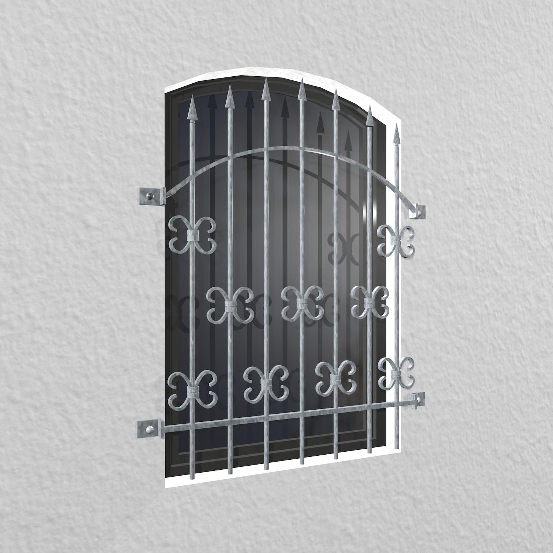 Fenstergitter verzinkt Schwarzwald Oberbogen