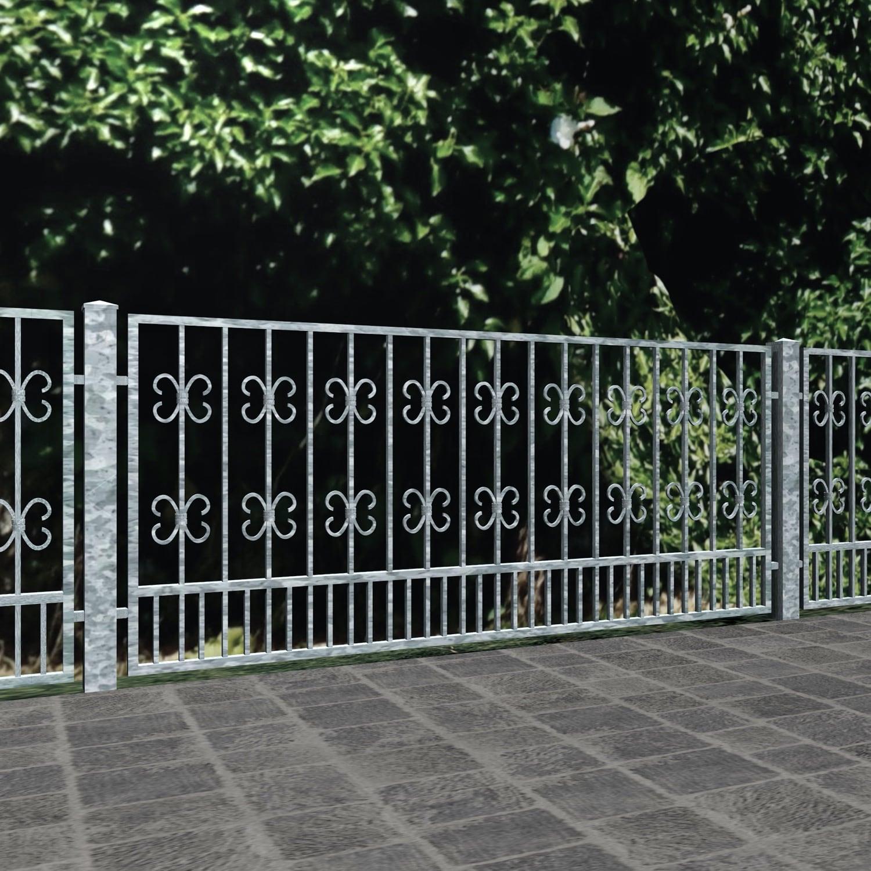 Gartenzaun verzinkt Barock, GE
