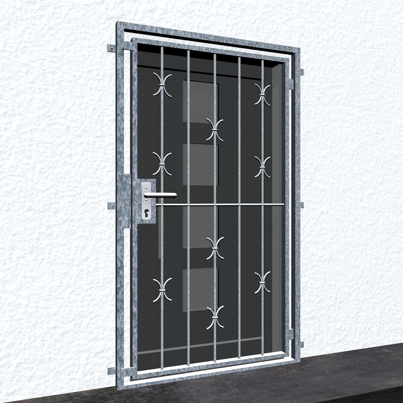 Gittertür verzinkt C-Bogen