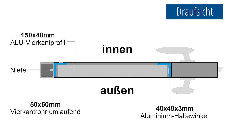 Gartentür Alu 1-flügelig Sichtschutz, GE