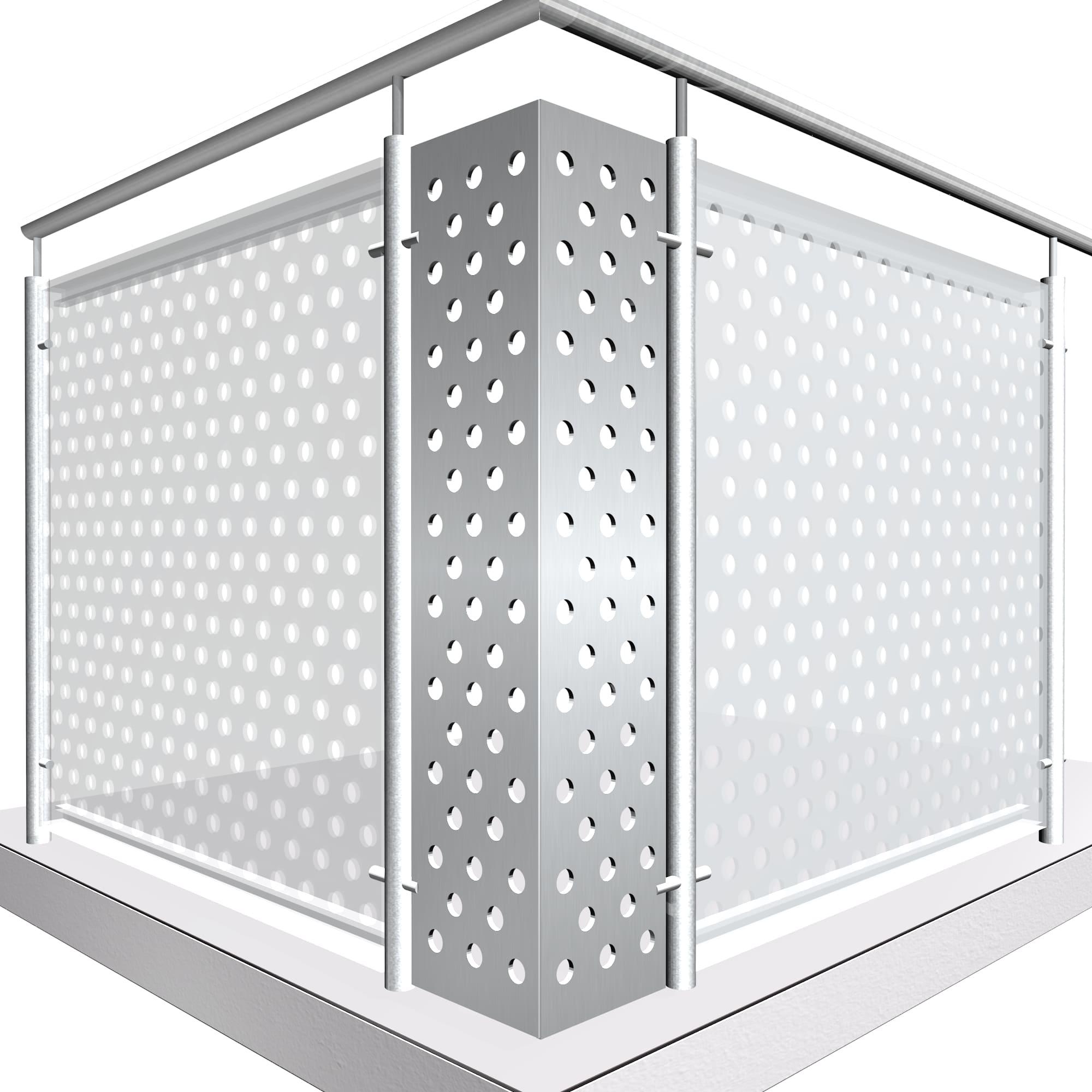 Eckelement Aluminium RL VE