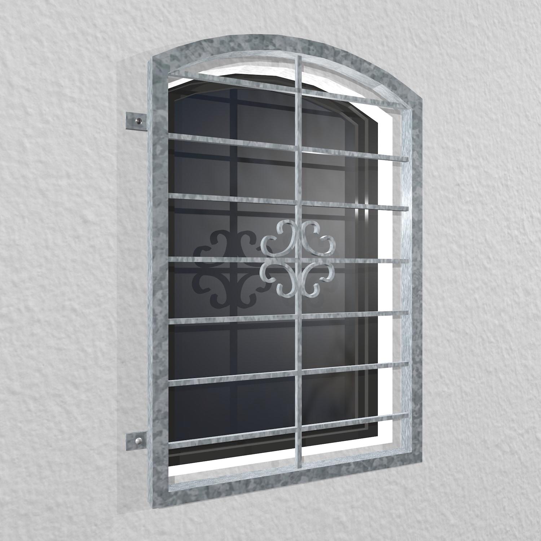 Fenstergitter verzinkt Blume Oberbogen