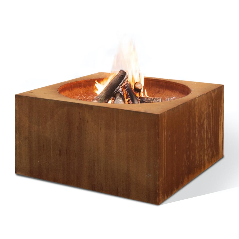 Feuerschale Cortenstahl quadratisch