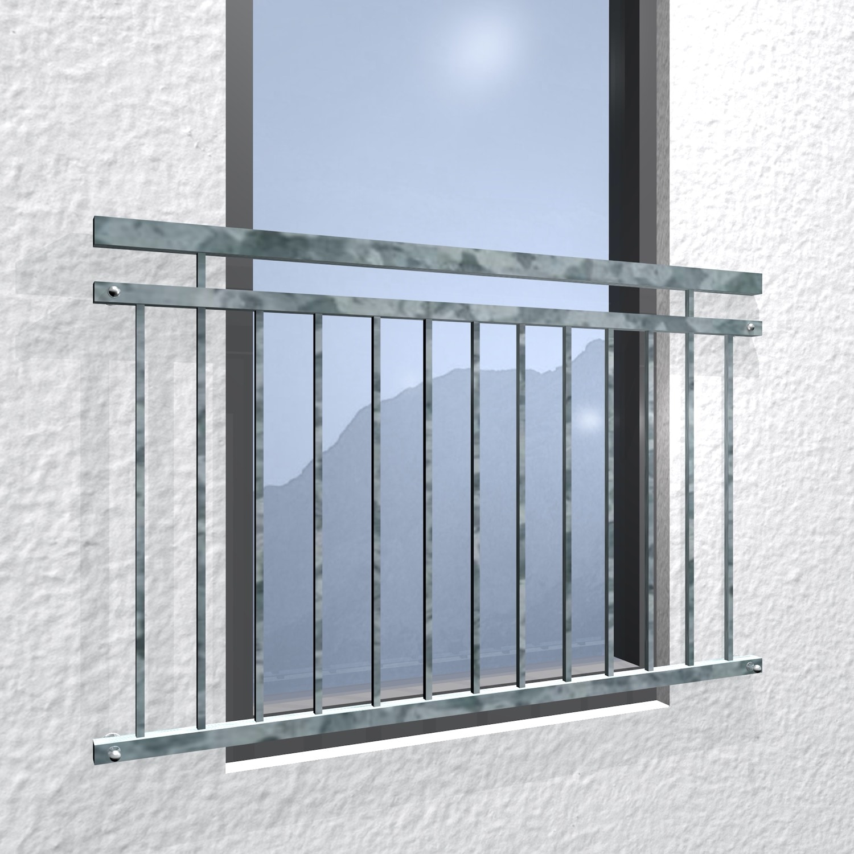 Französischer Balkon verzinkt Vierkant
