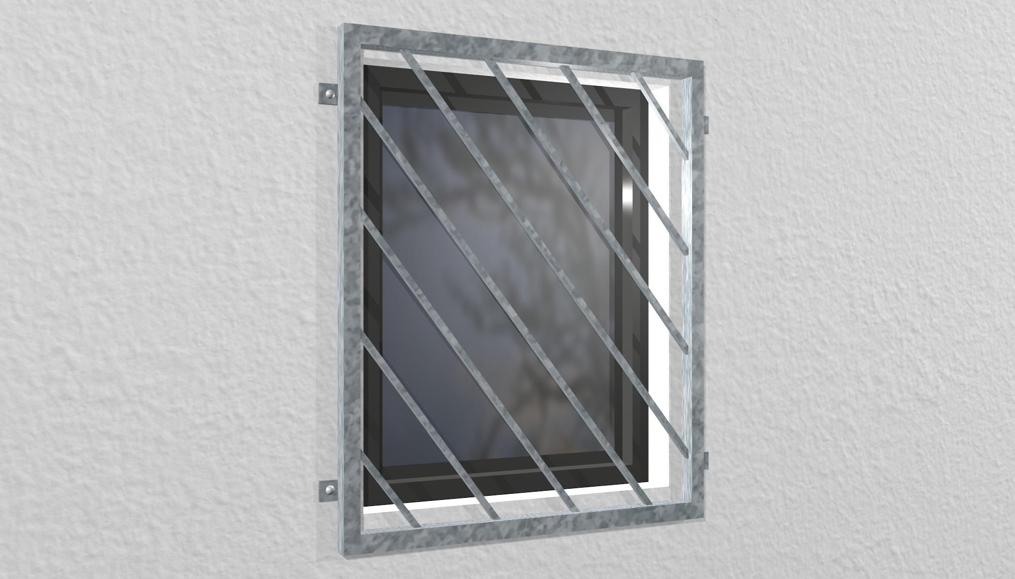 Fenstergitter verzinkt Diagonalstab 2