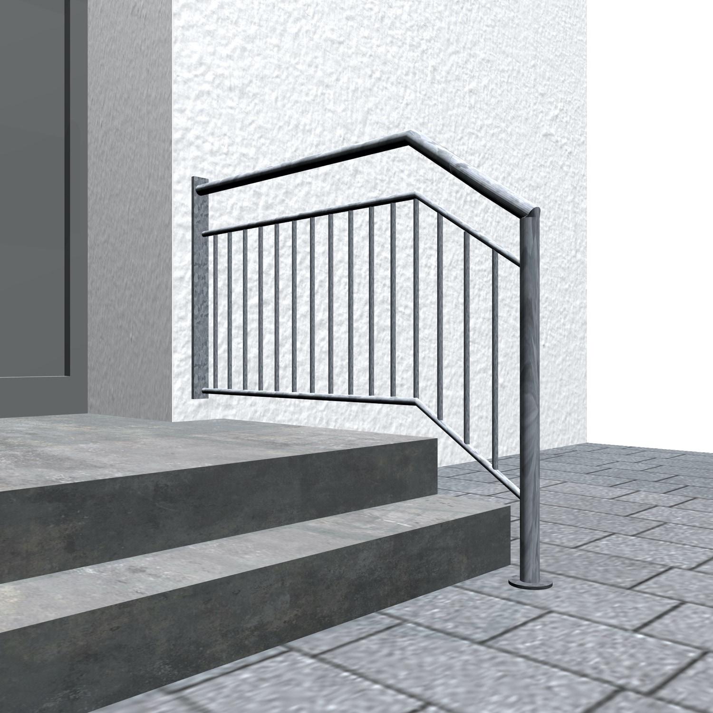 Treppengeländer verzinkt  WT-CL Stabfüllung