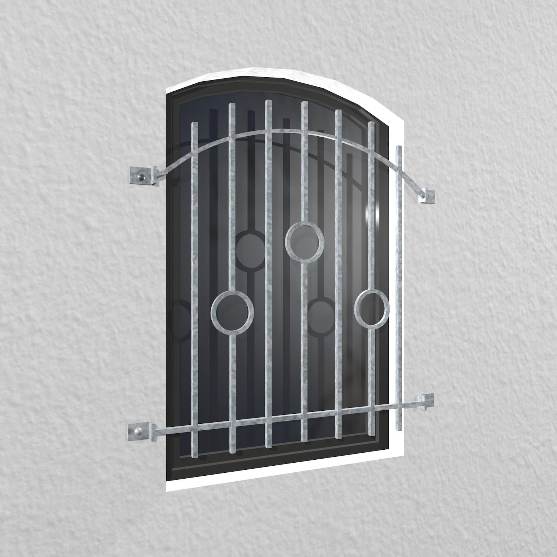 Fenstergitter verzinkt Kreis Stab Oberbogen