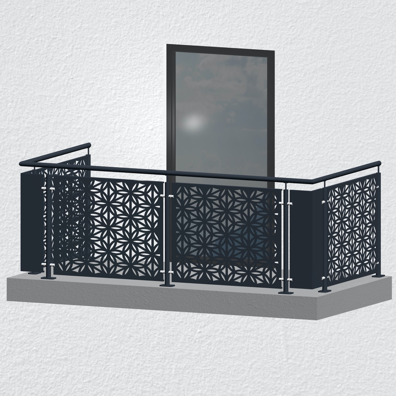 Balkongeländer verzinkt Designblech BT