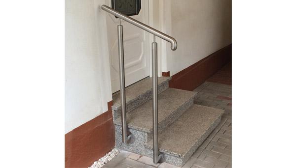 Treppenhandlauf Edelstahl - Sonderanfertigung