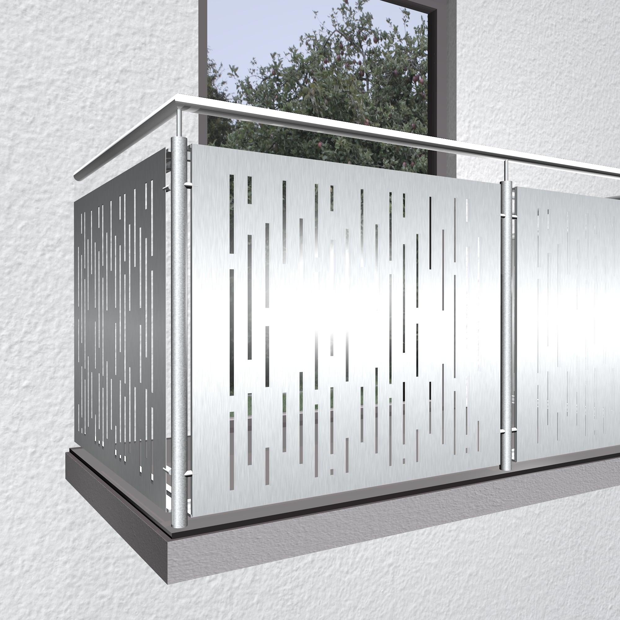 Balkonverkleidung Aluminium SF VE