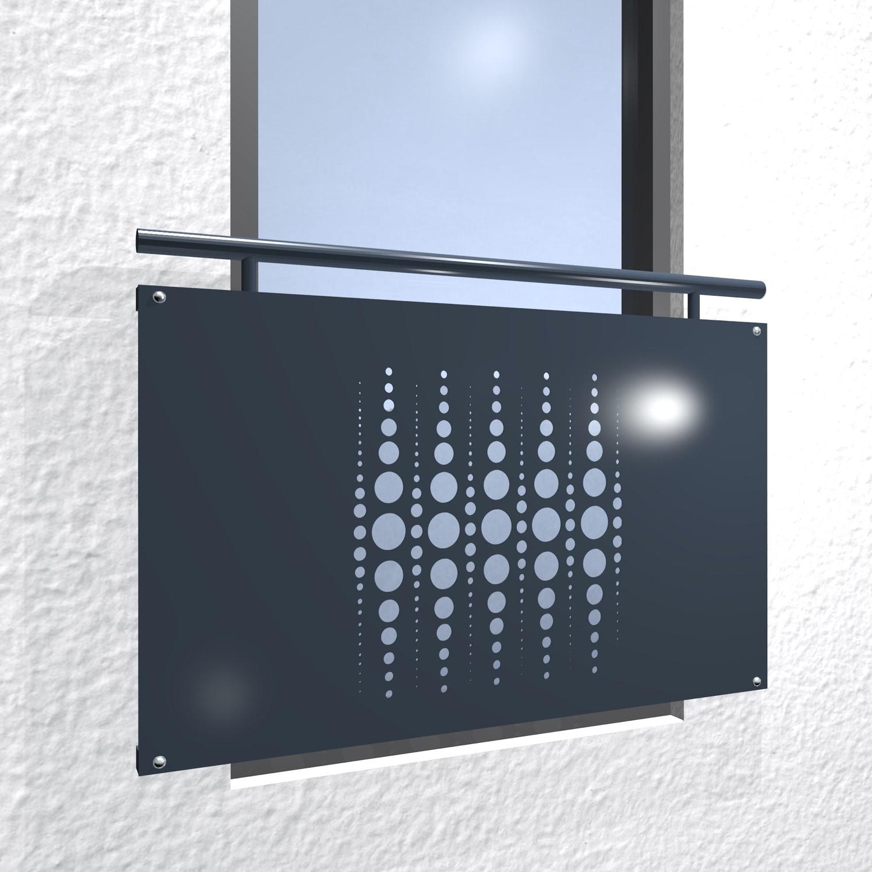 Französischer Balkon verzinkt Designblech Perlen